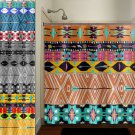 native tribal aztec american southwestern shower curtain  bathroom   k