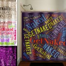Get Naked Typography Shower Curtain  bathroom     window curta