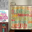 faith love happiness peace inspirational shower curtain  bathroom   ki