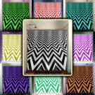 3D zigzag geometric chevron shower curtain  bathroom     windo