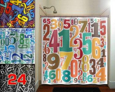 digit math custom lucky Number shower curtain  bathroom     wi