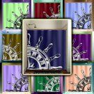 ship wheel compass navy sailor nautical shower curtain  bathroom   kid
