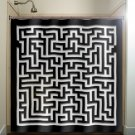 amazing mosaic wall maze shower curtain  bathroom     window c