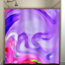 dali depression lavender lilac purple shower curtain  bathroom   kids