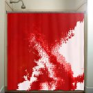 blood spatter red shower curtain  bathroom     window curtains