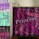 word art Pink Princess Girl shower curtain  bathroom     windo