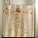 vitruvian man shower curtain  bathroom     window curtains pan
