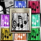 treble clef sheet music notes shower curtain  bathroom     win