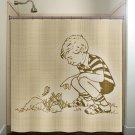 vintage child butterfly boy children kids shower curtain  bathroom   k