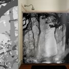 misty shades of gray camo forest tree shower curtain  bathroom   kids