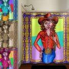 Texas Cowgirl Western Girl shower curtain  bathroom     window