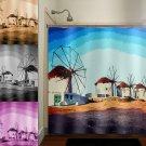 Mykonos Windmills Greek island Europe shower curtain  bathroom   kids