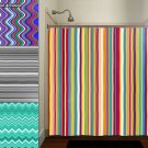 Any Color Stripe Wave Chevron Shower Curtain  bathroom     win
