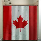 red maple leaf Canada flag shower curtain  bathroom     window