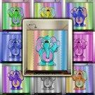 chevron elephant baby pastel boy girl kids shower curtain  bathroom