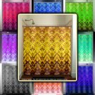 Gold Tapestry Damask Brown Yellow Golden shower curtain  bathroom   ki