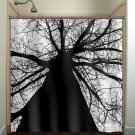 black trunk tree shower curtain  bathroom     window curtains