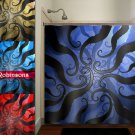 ocean abyss of tentacles octopus shower curtain  bathroom