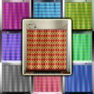 beautiful diamonds multi color argyle shower curtain  bathroom   kids