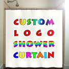 Custom Logo Shower Curtain personalize photo design print picture image bathroom