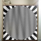 annoying optical illusion zen shower curtain  bathroom     win