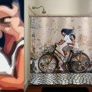 bicycle children kid bike vintage shower curtain  bathroom
