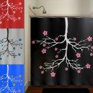 chandelier cherry blossom flower tree shower curtain  bathroom   kids