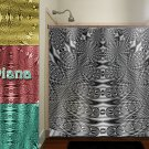 steampunk fractal peacock electric metal shower curtain  bathroom   ki