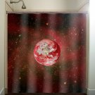 star space red earth planet shower curtain  bathroom     windo