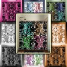 angry owls tribal aztec mayan tiki man art shower curtain  bathroom