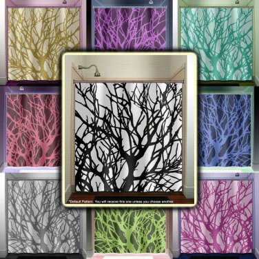 branches tree branch shower curtain  bathroom     window curta