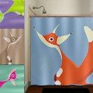 Red Fox Shower Curtain  bathroom     window curtains panels ba