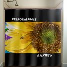 performance anxiety shy bee sunflower shower curtain  bathroom   kids