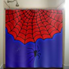 superhero spider web boy man shower curtain  bathroom     wind