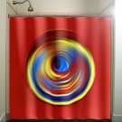 yellow blue red shower curtain  bathroom     window curtains p