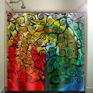 rainbow sunset sky life tree shower curtain  bathroom     wind