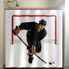 hockey shower curtain  bathroom     window curtains panels bat