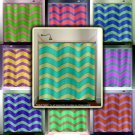 large custom color chevron shower curtain  bathroom     window