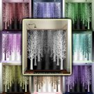 gray shades forest avenue stand tree lane shower curtain  bathroom   k