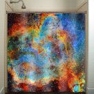 Rainbow Nebula Cosmos Outer Space Galaxy shower curtain  bathroom   ki