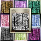 oak forest woodland winter trees shower curtain  bathroom