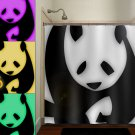 personalized giant bear panda shower curtain  bathroom     win