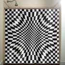annoying zen checkered shower curtain  bathroom     window cur