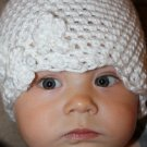 Newborn Girl Hat in White