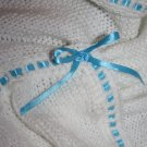 White Baby Boy Blanket