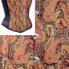 Black Brocade Fabric Steel Boning Overbust Fashion Corset Bustier (Body Waist-30inch)