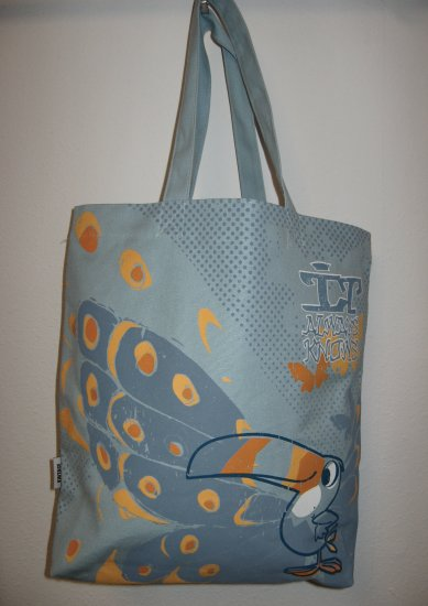 Retro Toucan Sam Blue Tote Bag
