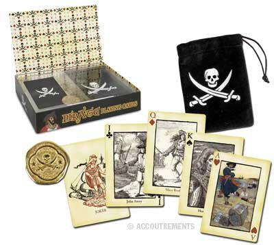 Pirate Playing Card Set with Carry Case and Coin