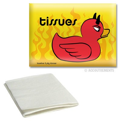 Devil Duck Print Tissue Holder