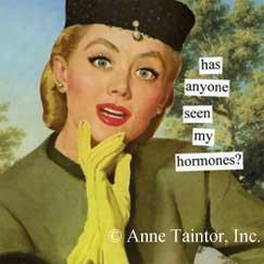 """Has Anyone Seen My Hormones"" Magnet"